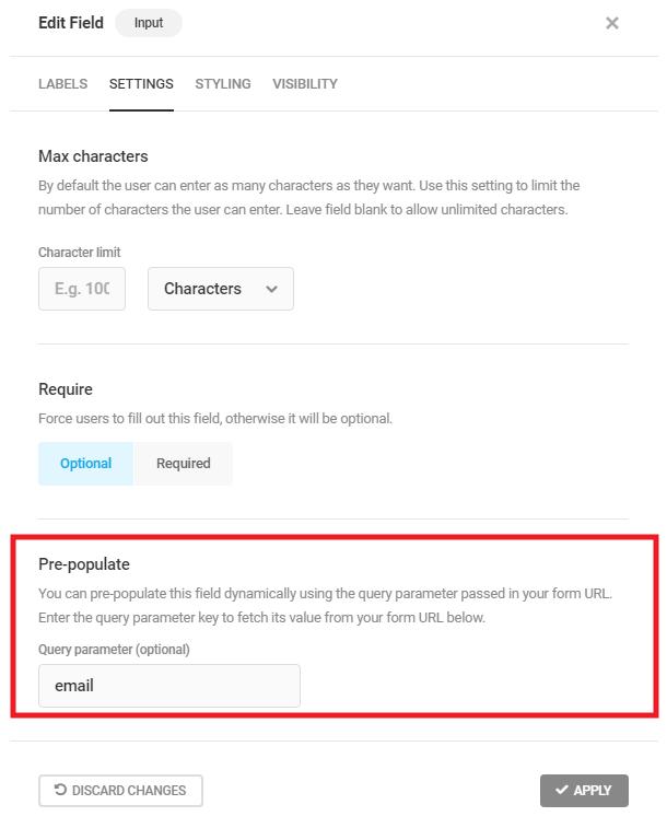 Préremplir la valeur du champ dans le formulaire Forminator