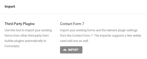 Import Contact Form 7 forms into Forminator