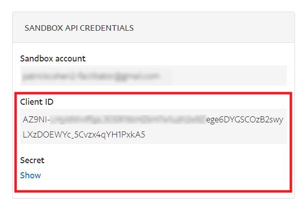 Obtenez des clés d'API PayPal sandbox pour vous connecter à Forminator