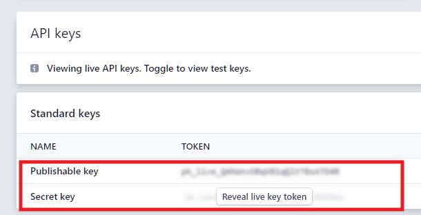 Obtenez des clés API Stripe en direct pour vous connecter à Forminator