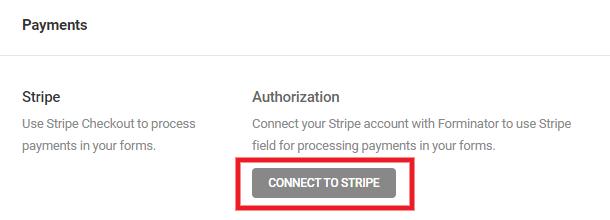 Connectez Stripe à Forminator