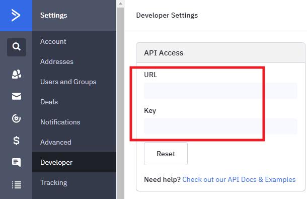 Obtenez la clé d'API ActiveCampaign pour l'intégration avec Forminator