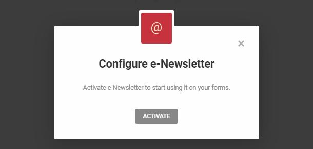 Intégration de l'e-Newsletter avec Hustle