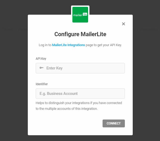 Intégration de MailerLite avec Hustle