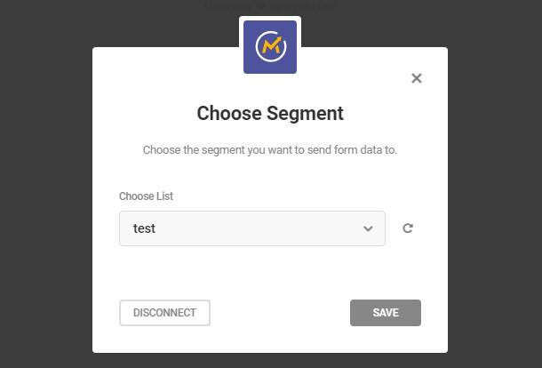 Sélectionnez le segment Mautic dans le module opt-in Hustle