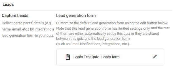 formulaires de génération de leads