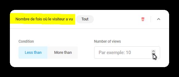nombre de fois ou le visiteur a vu