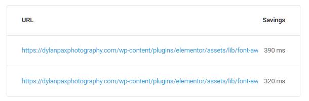 économies d'URL sur les demandes de clés de préchargement