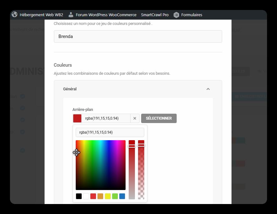 selection couleur