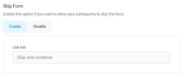 ignorer la fonction de formulaire