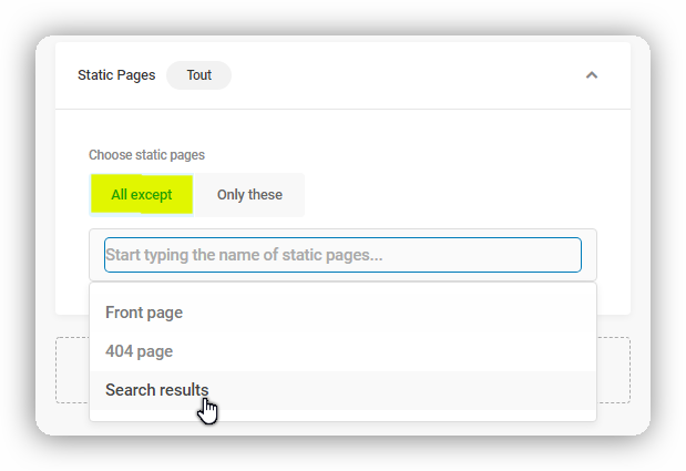 static pages