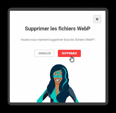 supprimer les fichiers webp