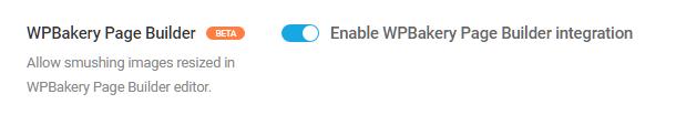 Intégration de WPBakery Builder avec Smush