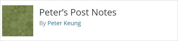 Notes de publication de Peter
