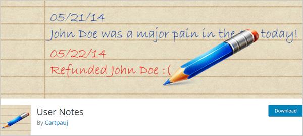 Notes utilisateur