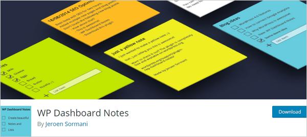 WP Dashboard Notes - Plugin de tableau de bord WordPress.