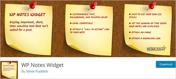 Widget WP Notes