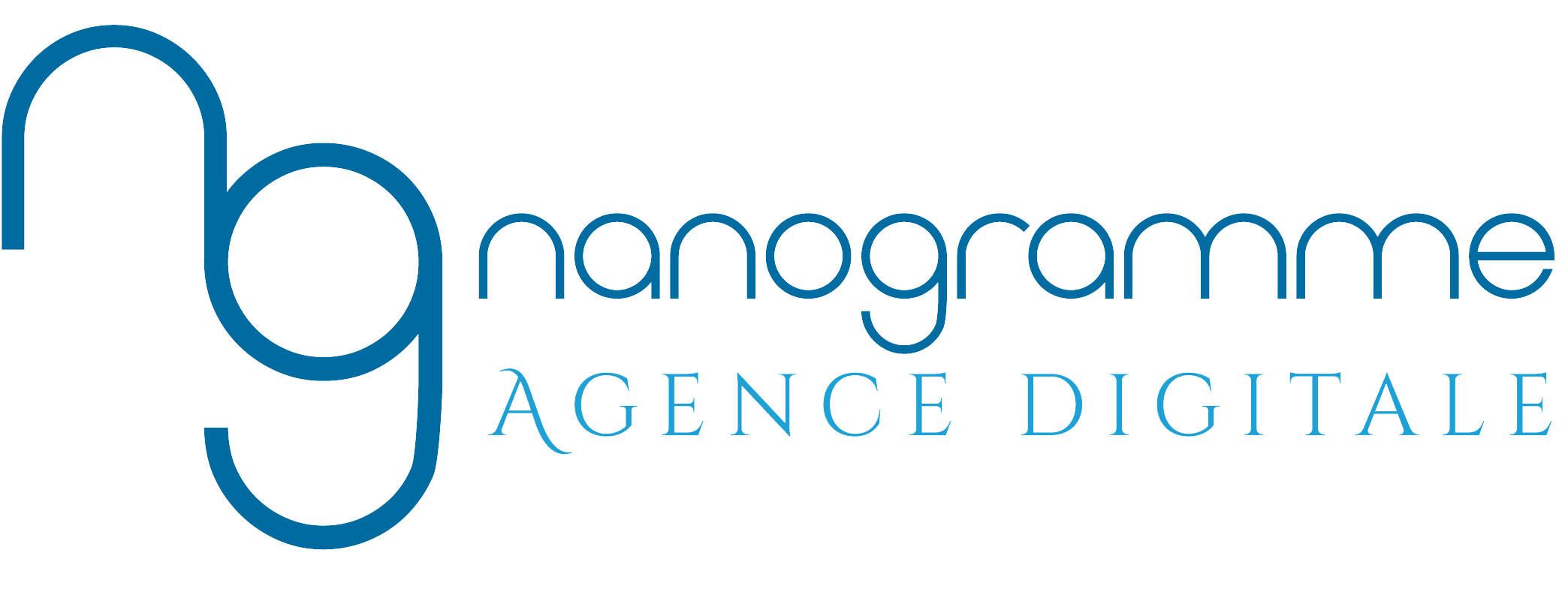 logo bleu nanogramme transparent