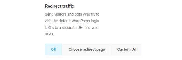 Capture d'écran de l'option de redirection du trafic.