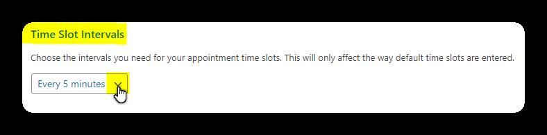 time slot intervals