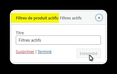 filtres actifs