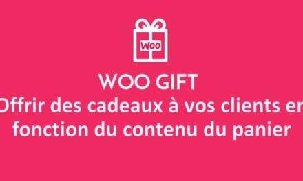 Woo Gift – Advanced WooCommerce Gift – Offrir des cadeaux à vos clients en fonction du contenu du panier