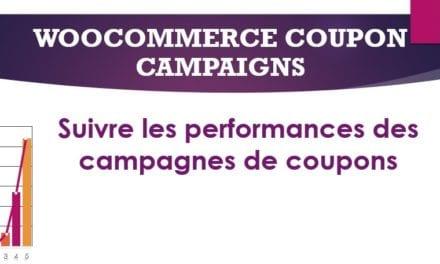 WooCommerce Coupon Campaigns–Suivre les performances des campagnes de coupons