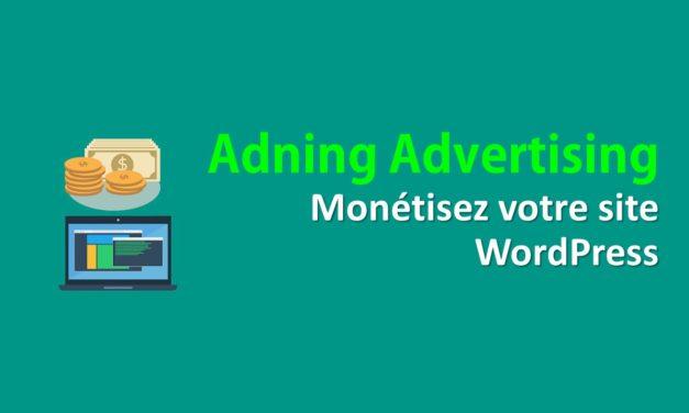Adning Advertising–Monétisez votre site WordPress